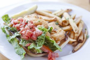 toast all day shrimp po boy