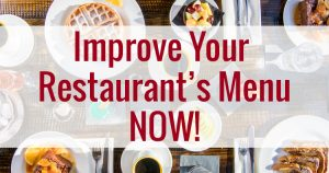 Improve Your Menu